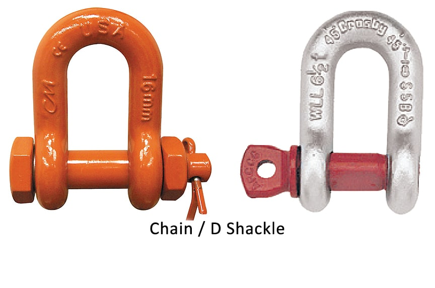 Different Types of Shackles: Chain or D Shackle