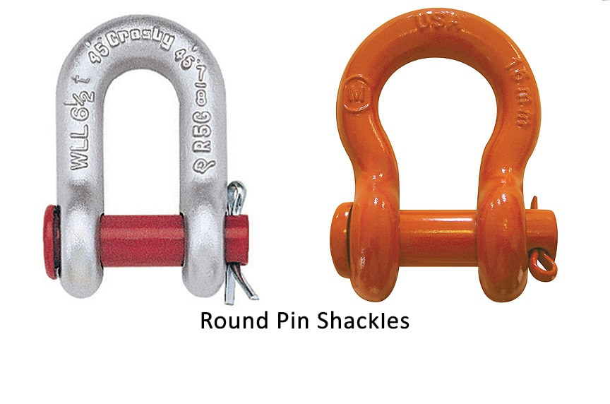 Different Types of Shackles: Round Pin Shackles