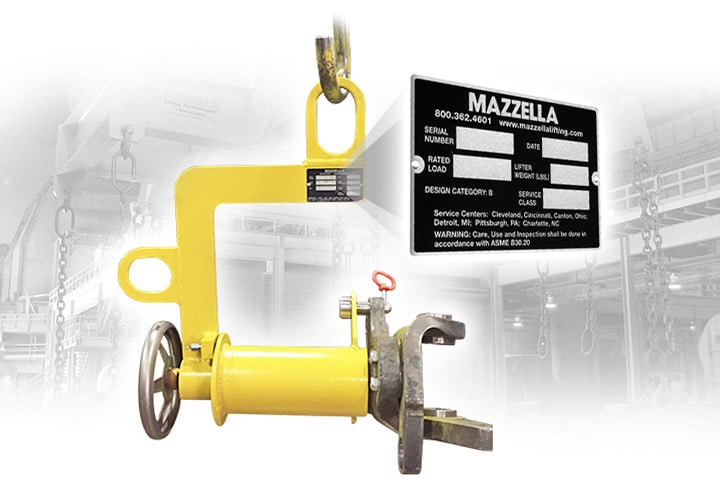 Identification & Markings Compliance for Older Below-the-Hook Lifting Devices: BTH Tag
