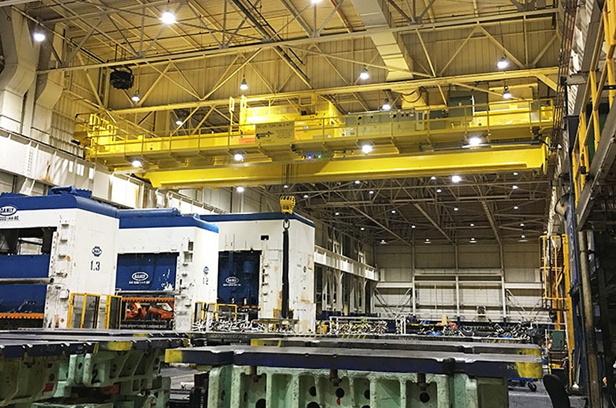 Lifting and Rigging Solutions for Die Handling and Automotive Stamping: Overhead Cranes