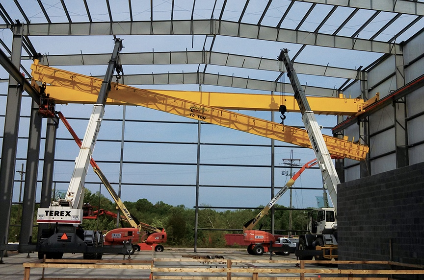 Purchasing an Overhead Crane Process: Class E Crane Install
