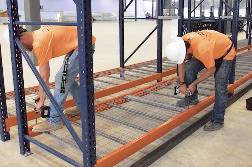 Structural vs. Roll Formed Pallet Racking: Advantages and Disadvantages: Structural Installation