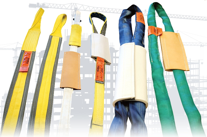 Synthetic Slings: Web Slings, Roundslings, and Polyester vs. Nylon: Synthetic Slings with Protection