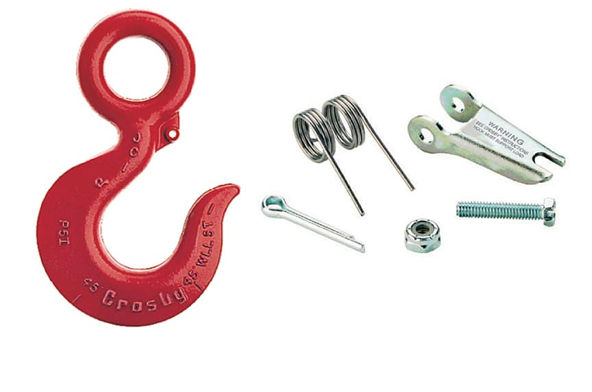 What are the Different Types of Lifting Hooks and Sling Hooks: Hook Latch Kits