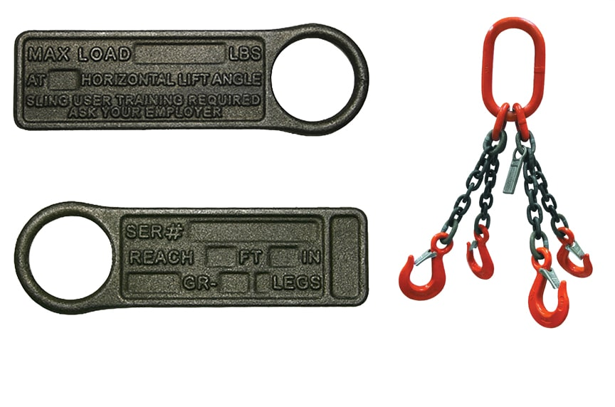What Information Must Be Included on a Sling Identification Tag: Alloy Chain Sling Tag
