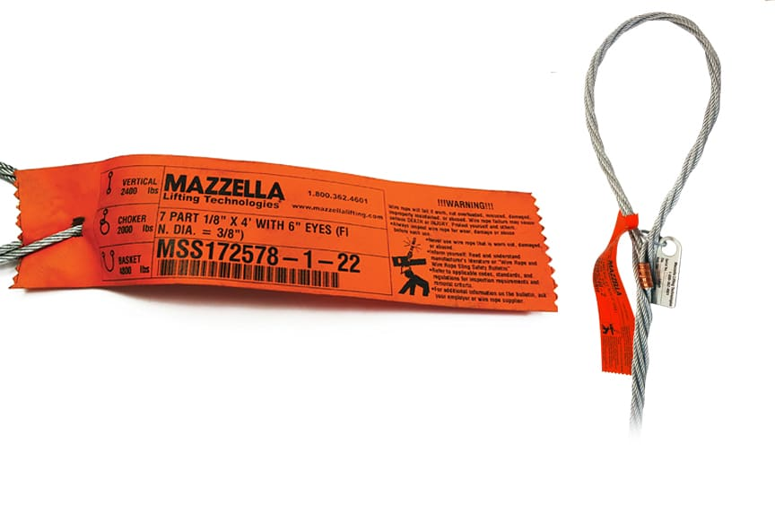What Information Must Be Included on a Sling Identification Tag: Wire Rope Sling Tag