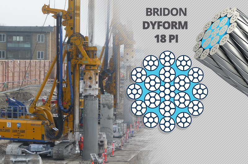 What is the Best Kelly Line Rope for a Foundation Drilling Rig: Bridon Dyform 18PI
