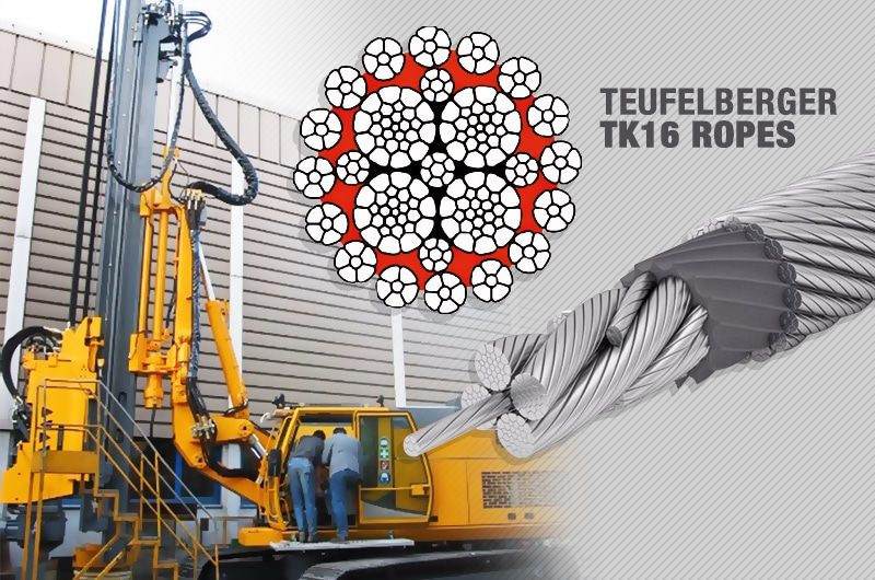 What is the Best Kelly Line Rope for a Foundation Drilling Rig: Teufelberger TK16 Ropes