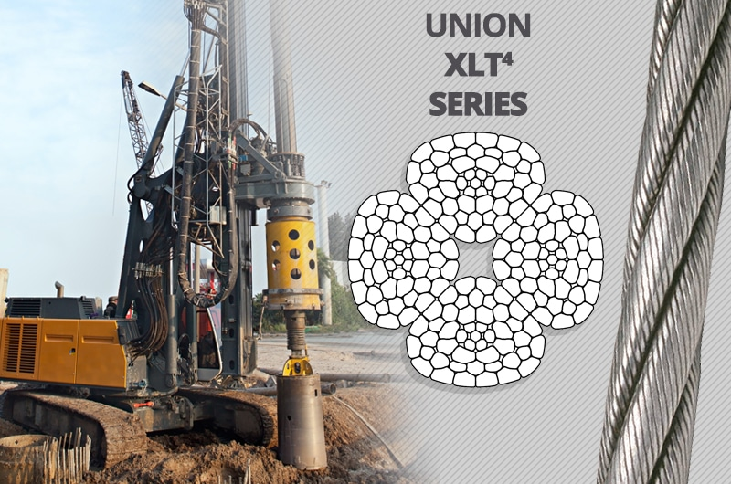What is the Best Kelly Line Rope for a Foundation Drilling Rig: Union XLT4 Series
