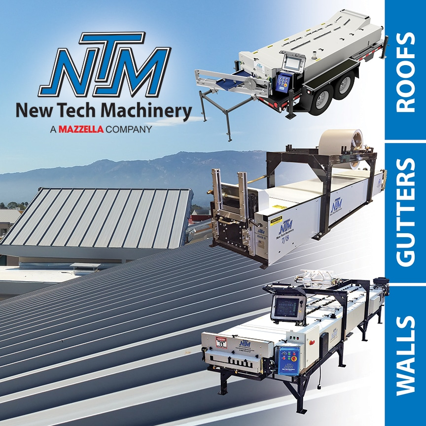 Mazzella Companies Acquires New Tech Machinery: Roof Panel, Gutter, and Wall Machines