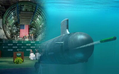 Keel Laying Ceremony for the Virginia Class Washington Attack Submarine: Featured