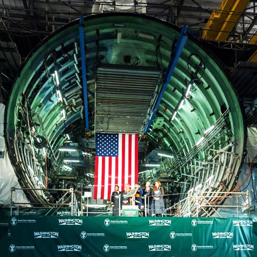 Keel Laying Ceremony for the Virginia Class Washington Attack Submarine: Main