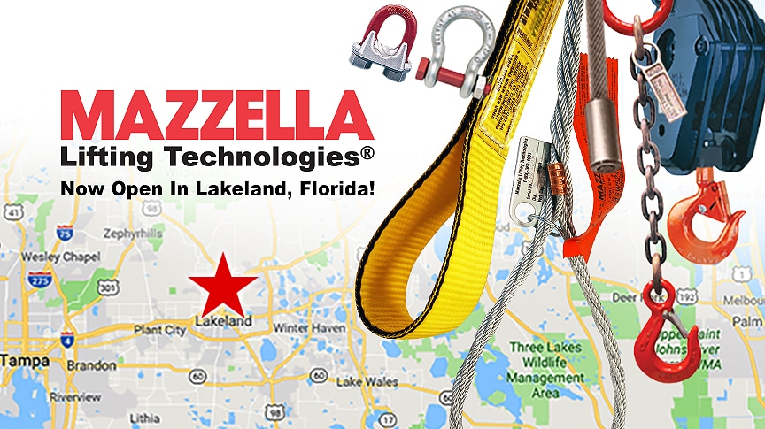 Mazzella Lifting Technologies Adds New Branch in Lakeland, Florida: Main