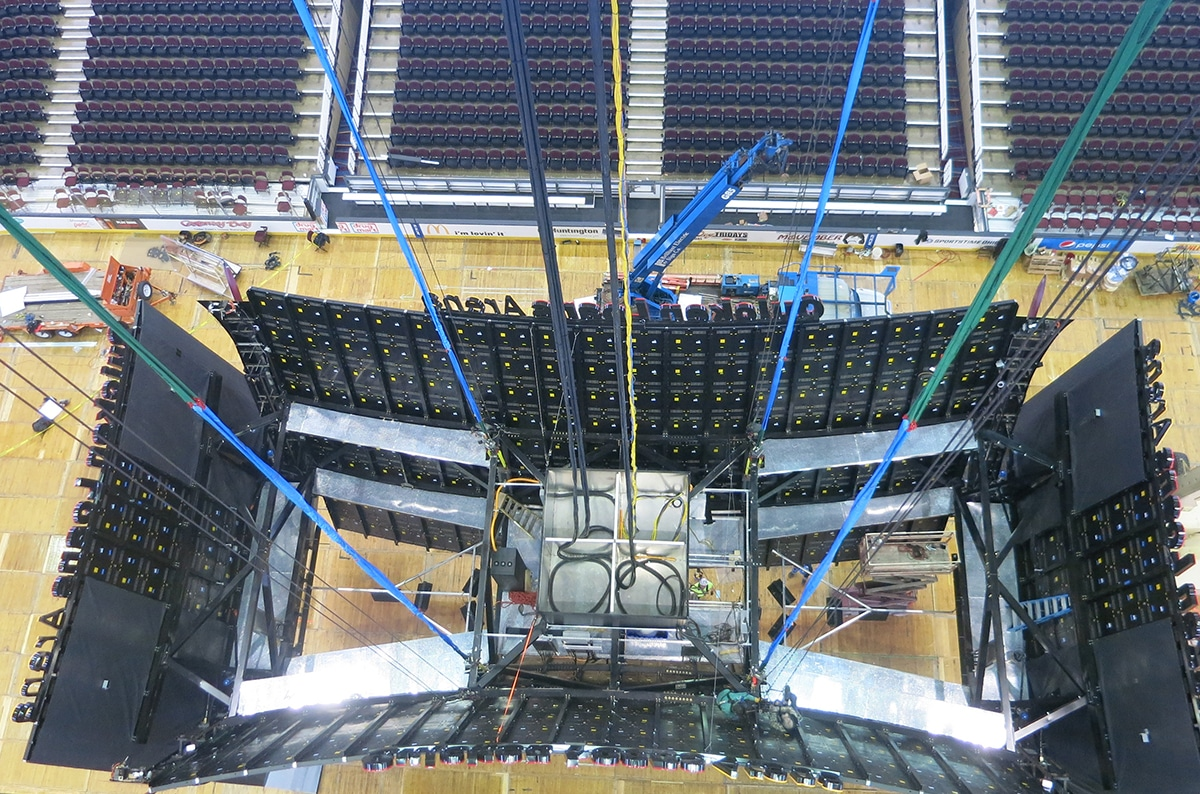 Mazzella Knocks Out Elaborate Scoreboard Upgrade at Quicken Loans Arena