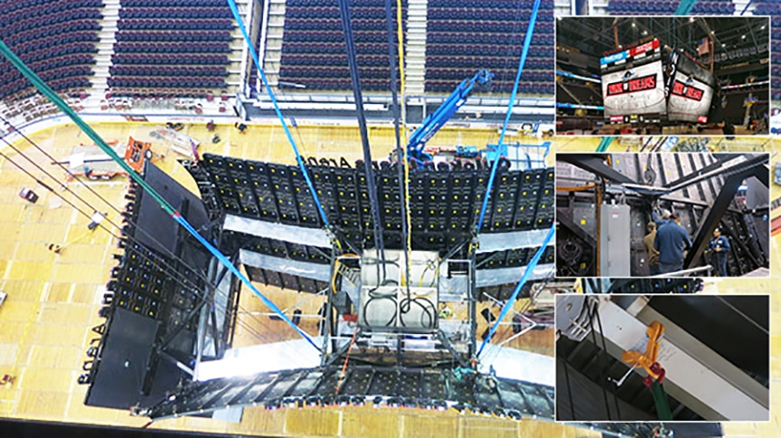 Mazzella Knocks Out Elaborate Scoreboard Upgrade at Quicken Loans Arena: Rigging Products, Engineered Products, Hoists
