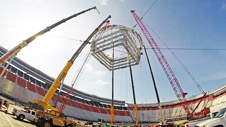 "Tennessee Sling Center Provides Rigging For ""Colossus"" At Bristol Motor Speedway: Main"