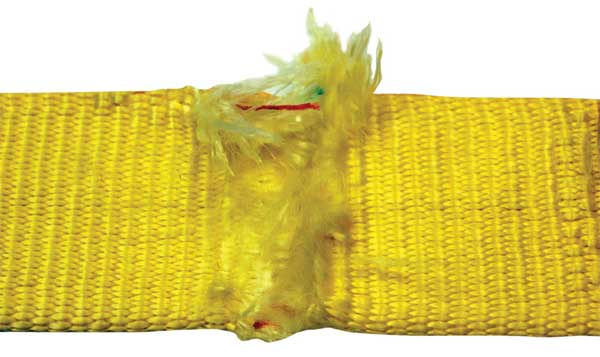 Nylon and Polyester Slings: Red Core Yarns Indicator
