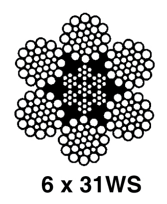 Standard 6x19 and 6x36 Classification Ropes: 6x31WS