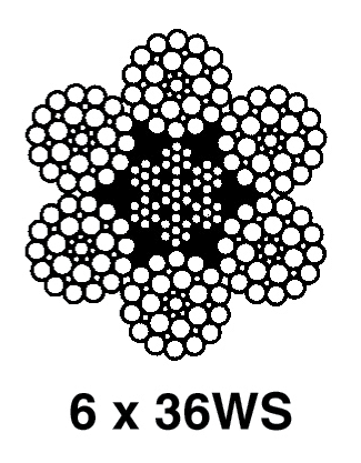 Standard 6x19 and 6x36 Classification Ropes: 6x36WS