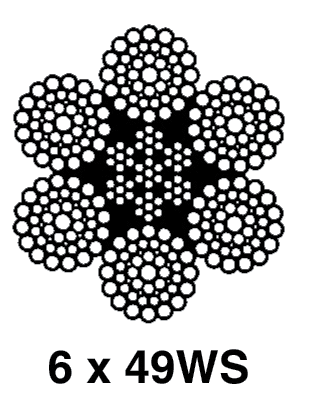 Standard 6x19 and 6x36 Classification Ropes: 6x49WS