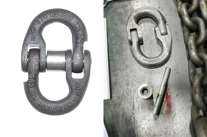 Master Links and Rings: CM Hammerlok® Assembled and Disassembled