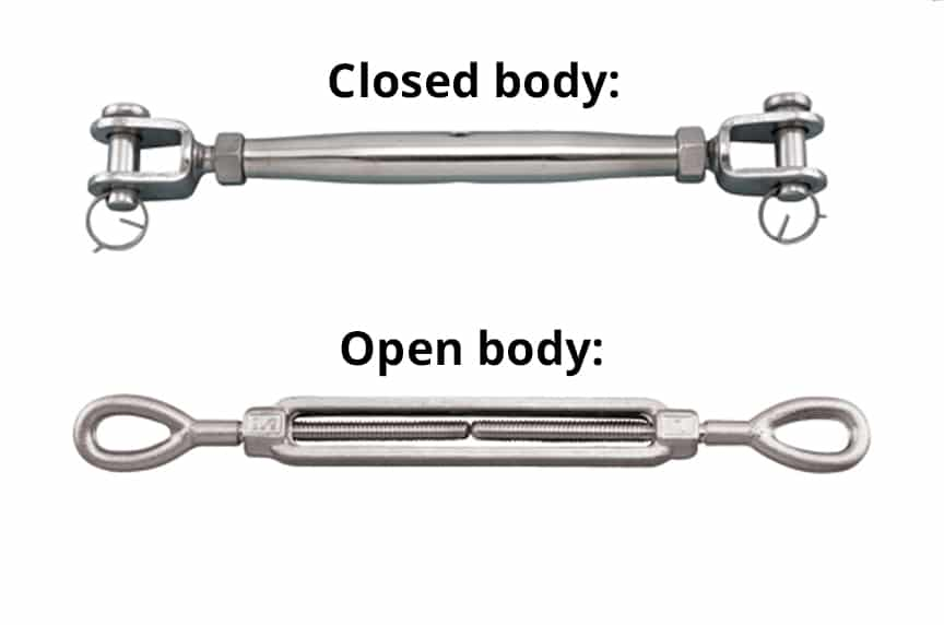 What is a Turnbuckle? A Look at the Types, Parts, Installation, and Uses: Closed vs. Open Body
