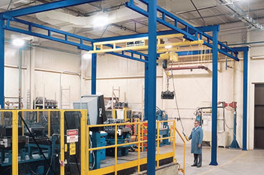 Forklifts vs. Overhead Cranes: Workstation Crane