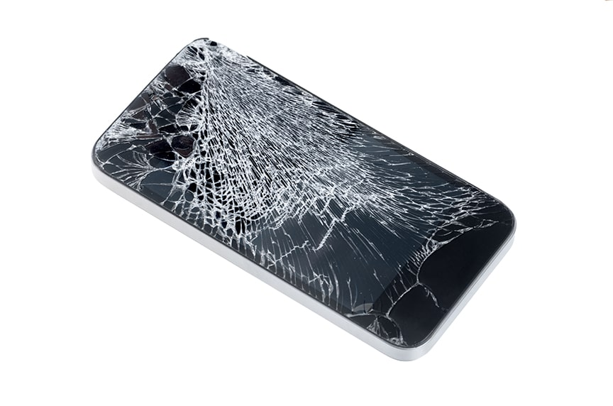 Sling Protection: Cracked iPhone