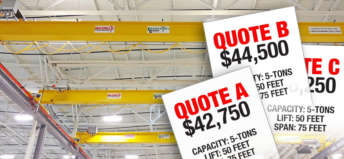 Buying A New Overhead Crane: Multiple Quotes