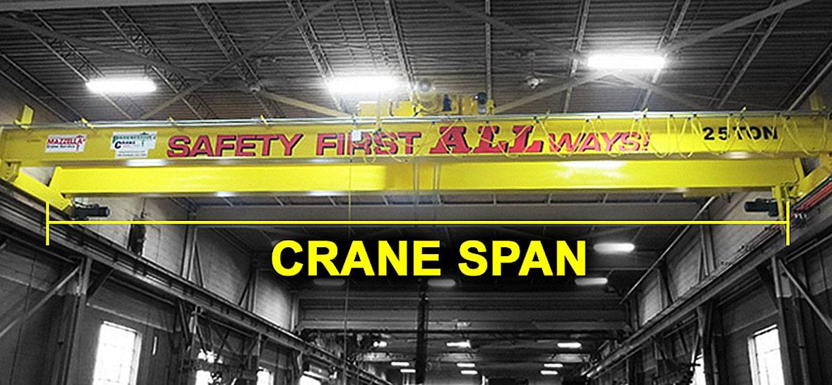 Overhead Crane Structure & Design: Measuring Crane Span