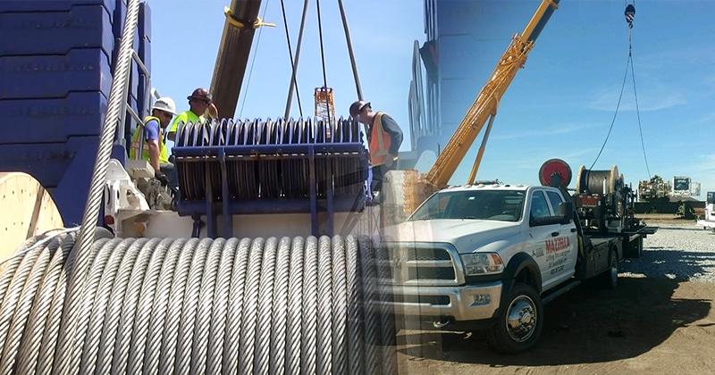 Mazzella Provides Mobile Crane Spooling Services