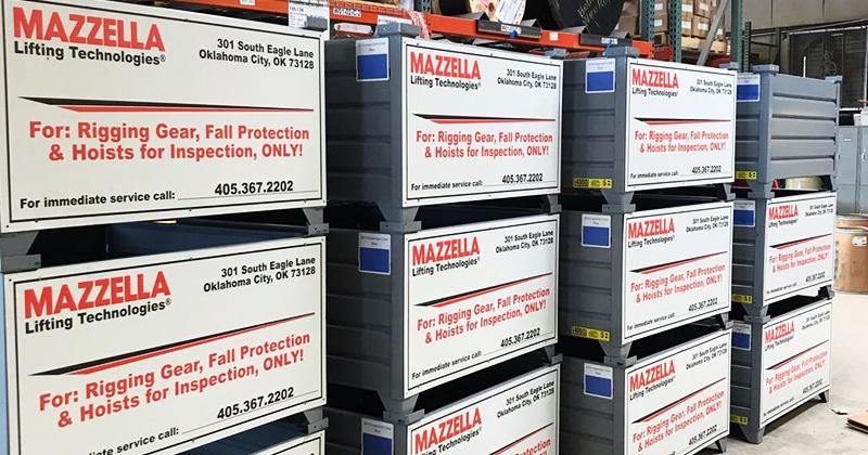 Mazzella Provides Rigging Repair Bins