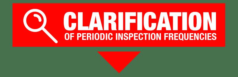 LiftingU: Clarification of Periodic Inspection Frequencies Graphic