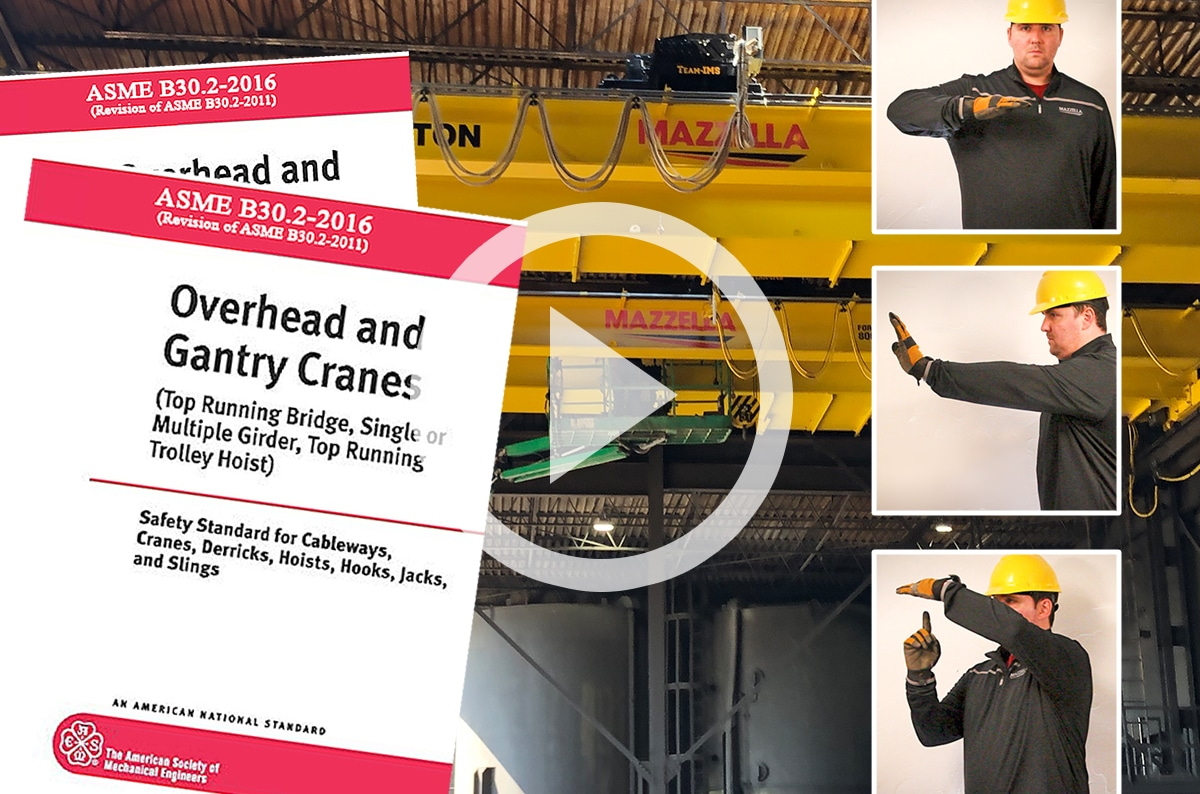 What are the ASME B30.2 Hand Signals for Overhead and Gantry Cranes?