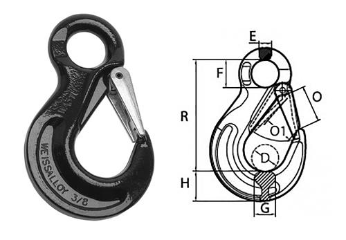 Peerless Peer-Lift Eye Style Sling Hook With Latch