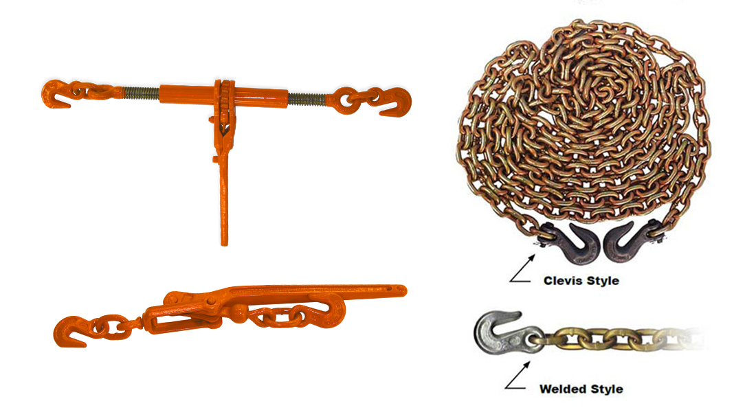 CM Ratchet Load Binders with Binder Chain