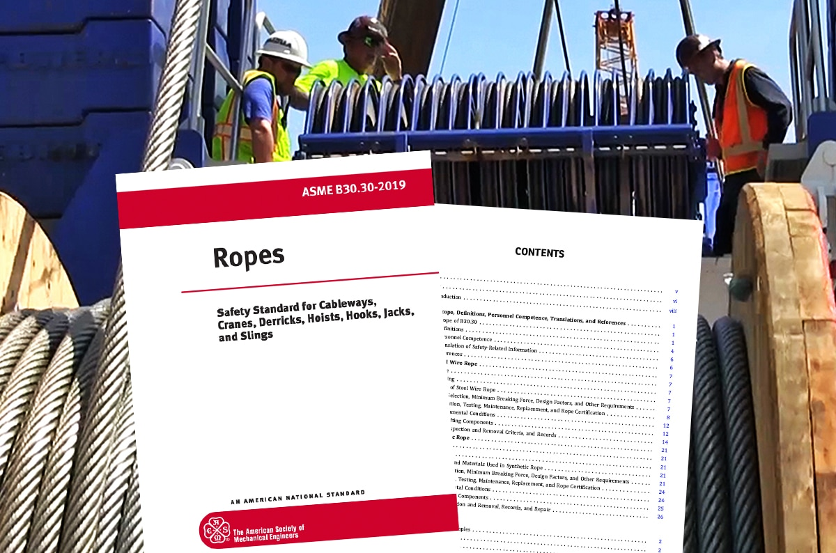 What is ASME B30.30, and How Does It Apply to Wire Rope Inspection?