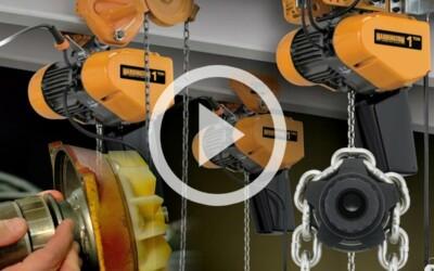 Harrington SEQ / EQ Electric Chain Hoist: Background, Design, and Features: Video
