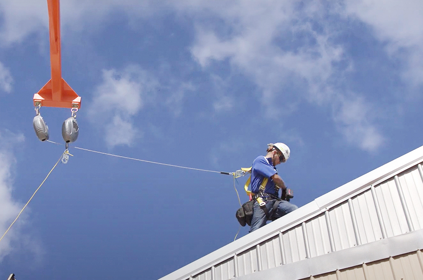 Fall Protection for Roofers: Systems, OSHA Regulations, & Best Fits: The Grabber Mobile Fall Protection 2