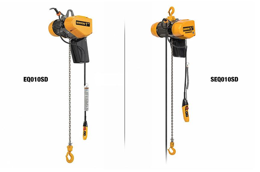 Harrington EQ / SEQ Electric Chain Hoist: Design, Features, Benefits: EQ / SEQ Hoists