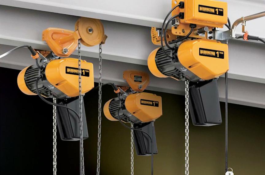 Harrington EQ / SEQ Electric Chain Hoist: Design, Features, Benefits: EQ / SEQ Electric Chain Hoists