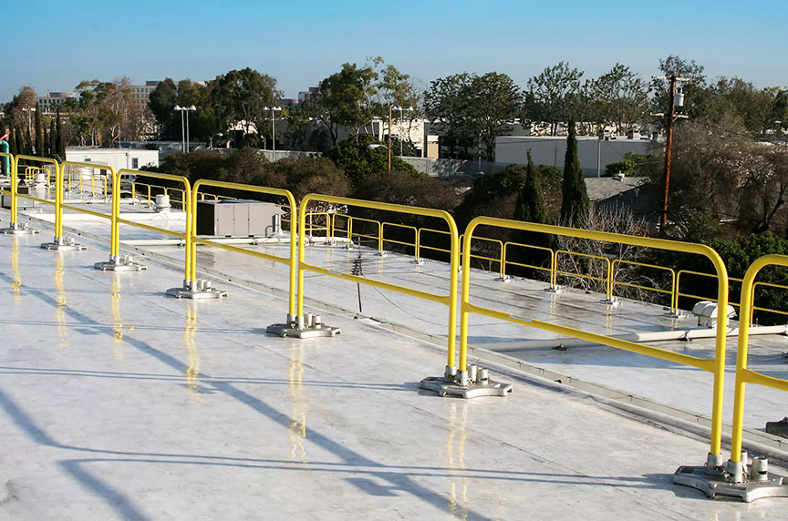 How Can Fall Prevention Systems Make Working at Height Safer: Guardrails Installed