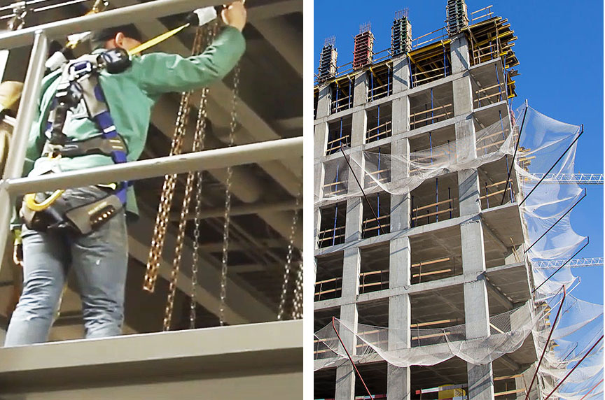 How Can Fall Prevention Systems Make Working at Height Safer: Platforms & Netting 2