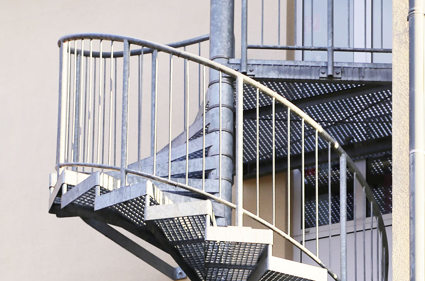 How Can Fall Prevention Systems Make Working at Height Safer: Spiral Stairs