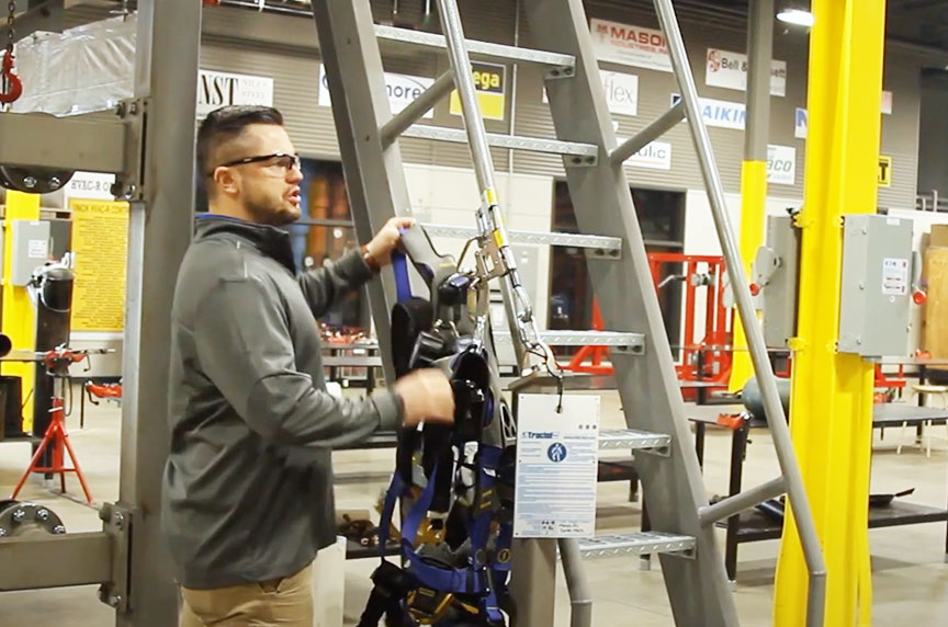 How Can Fall Prevention Systems Make Working at Height Safer: Stairways Installed