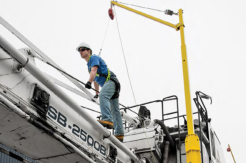 Mobile Fall Protection: Systems, Components, Best Fit Applications: Mobile Fall Protection Systems: System In Use