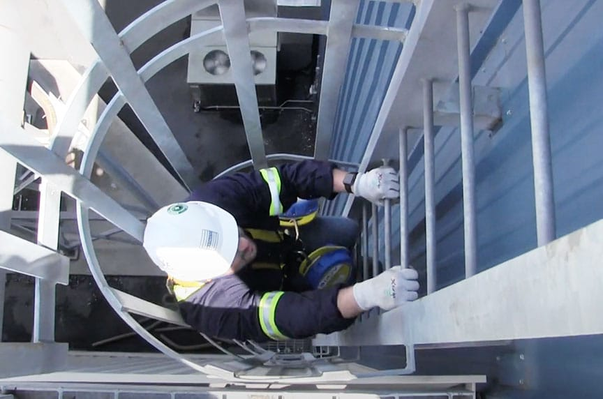 OSHA Hierarchy of Controls: Reducing Hazards for Working at Height: Fixed Ladders