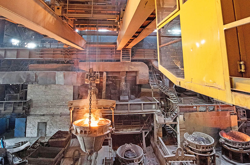 OSHA Hierarchy of Controls: Reducing Hazards for Working at Height: Steel Mill / Toxic Environment
