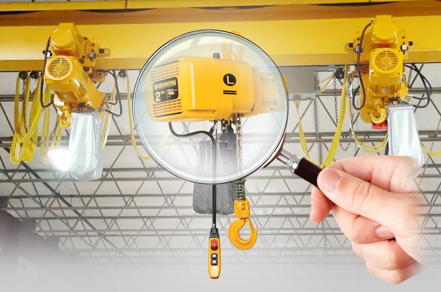 Harrington NER 3 Phase Electric Chain Hoist: History, Design, Best Fits: NER Electric Chain Hoist Inspection 2