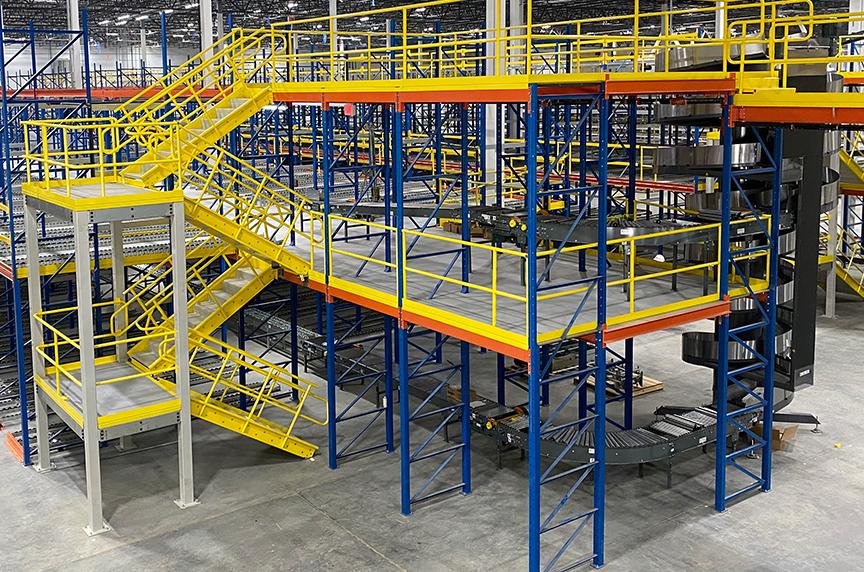 How Can a Mezzanine Help Increase Warehouse Storage, Productivity: Mezzanine 1